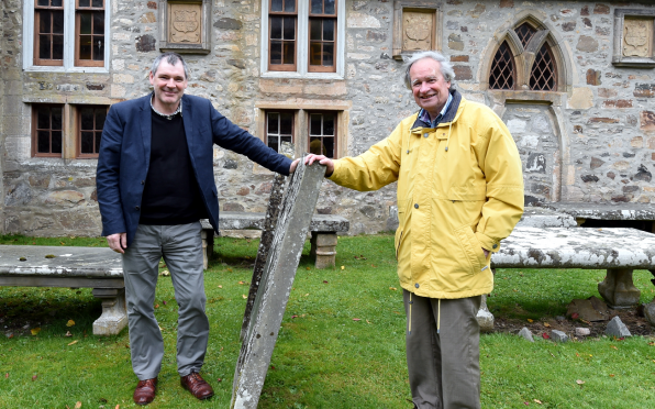 Cullen and Deskford Parish church, Cullen, where Robert the Bruce's wife died in 1327. Pictured: Reverend Douglas Stevenson and elder, James Findlay. Picture by Jim Irvine.