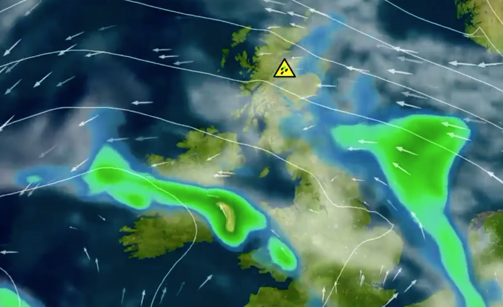 The north-east is expected to be battered by heavy rain.