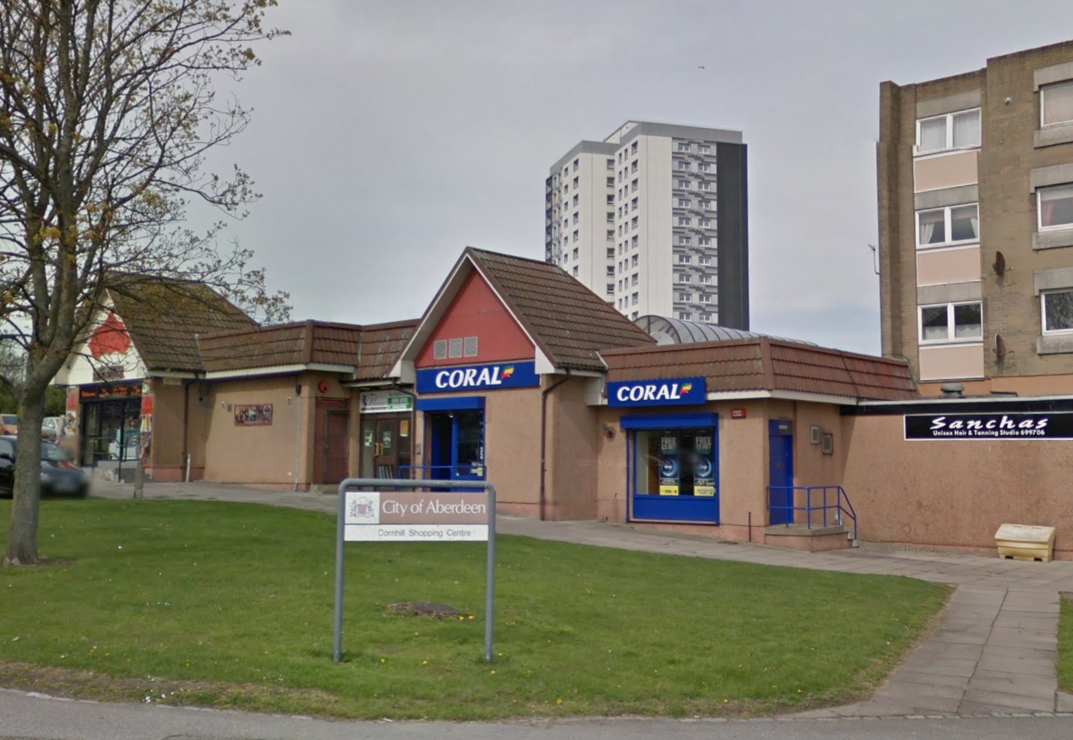 The Coral bookmakers shop at Cornhill, Aberdeen