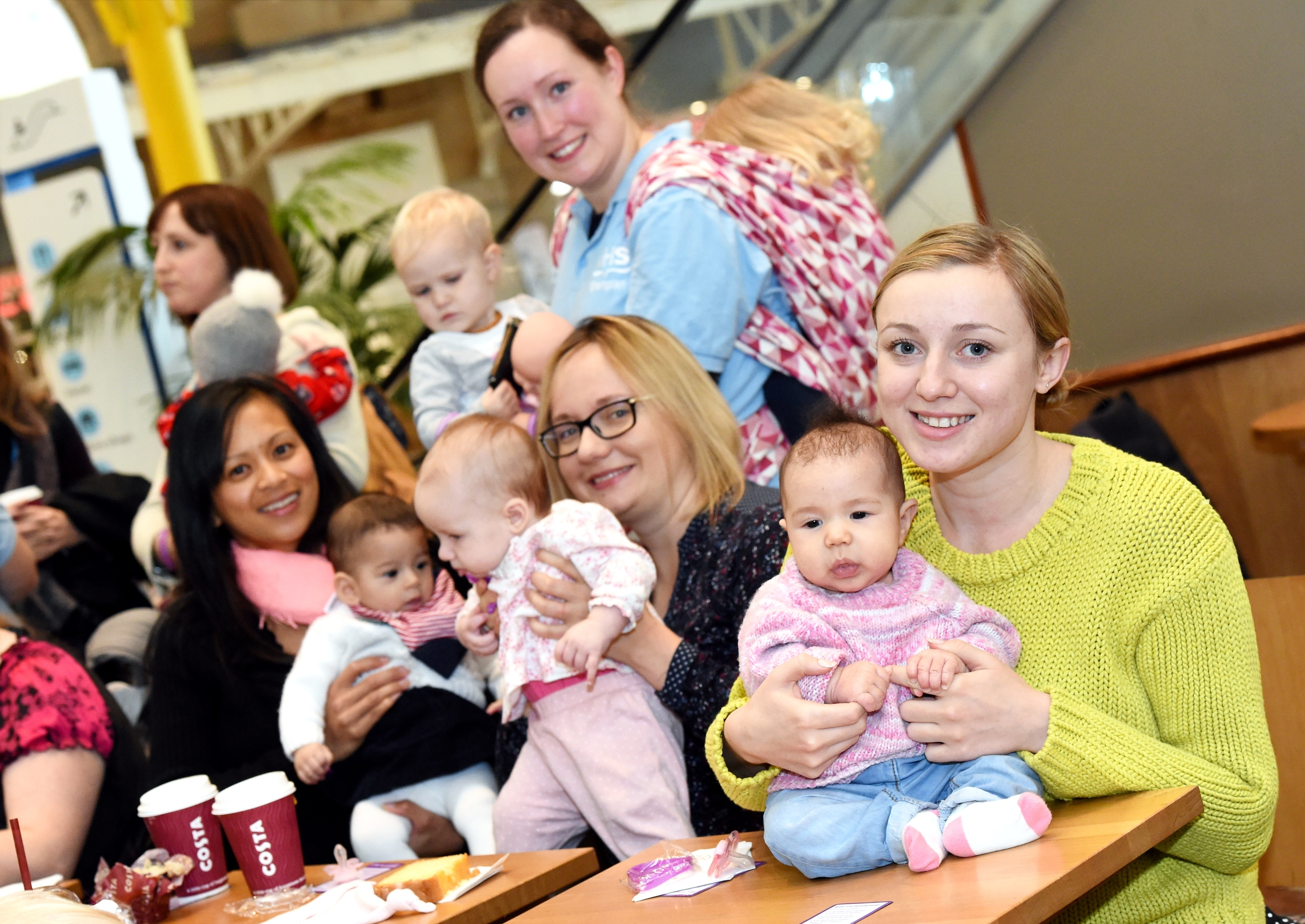 Young mother Laura Wood with baby Thea Cosima at the launch of Aberdeen''s new Breastfeeding Welcome Scheme