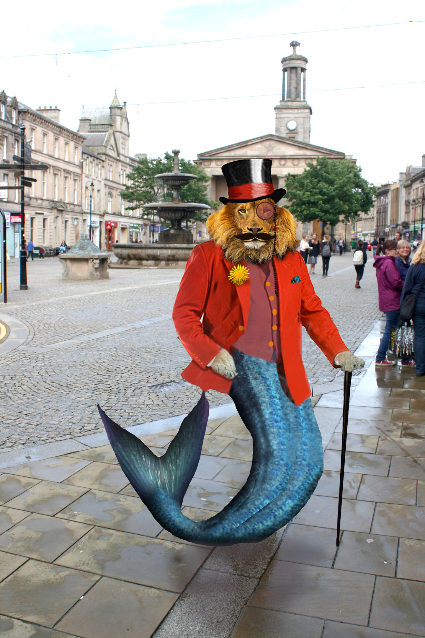 This curious creation will soon be a focal point of Elgin's town centre