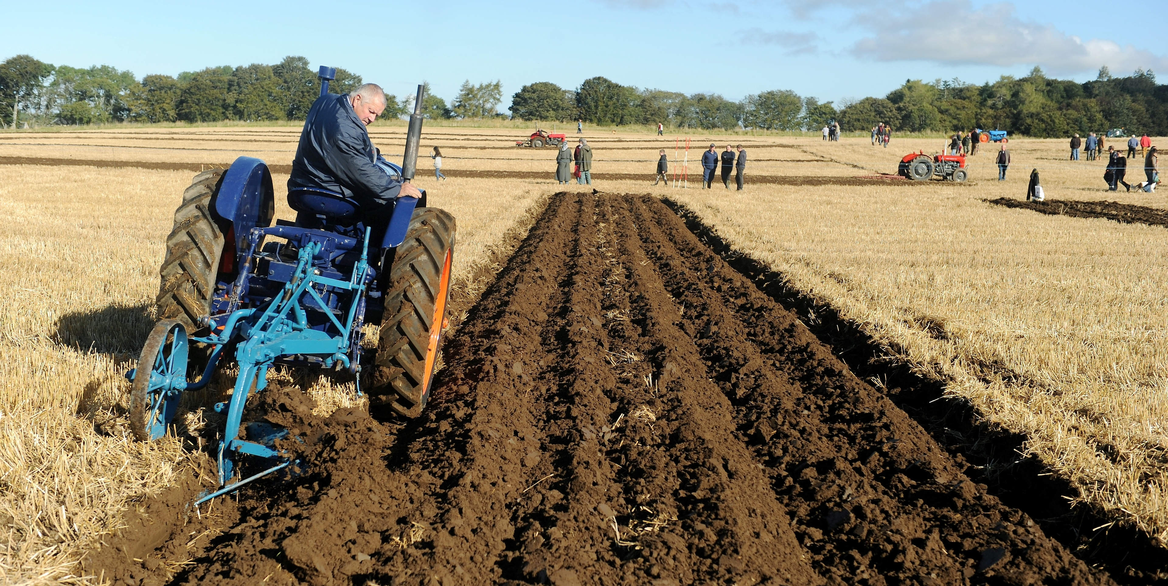 Duncan Mowat of Alcaig on the Black Isle ploughing with his Fordson 27N.