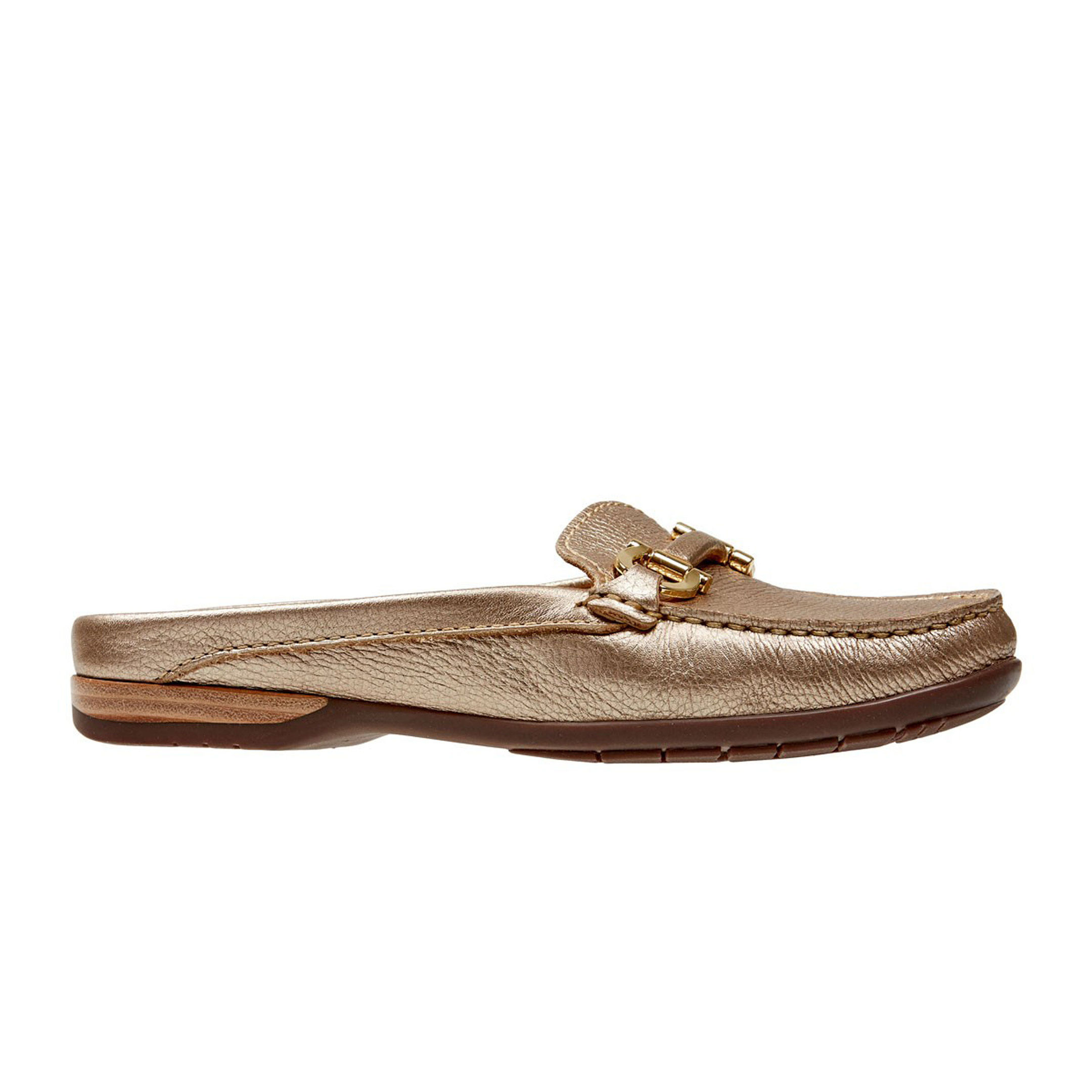 Van Dal Antique Gold Cashmere Loafer, available from vandalshoes.com.