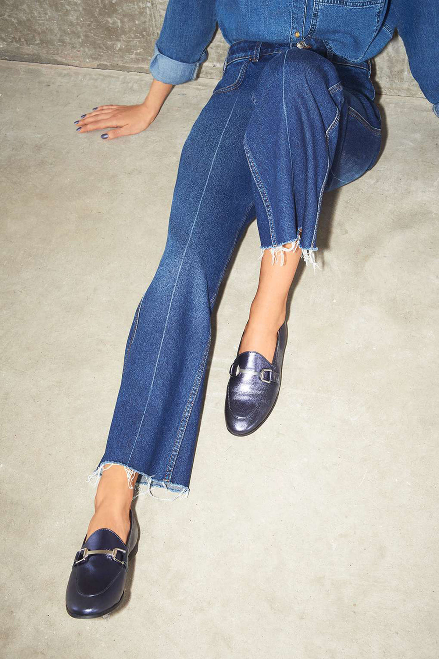 Topshop Kendall Leather Loafers, available from topshop.com.