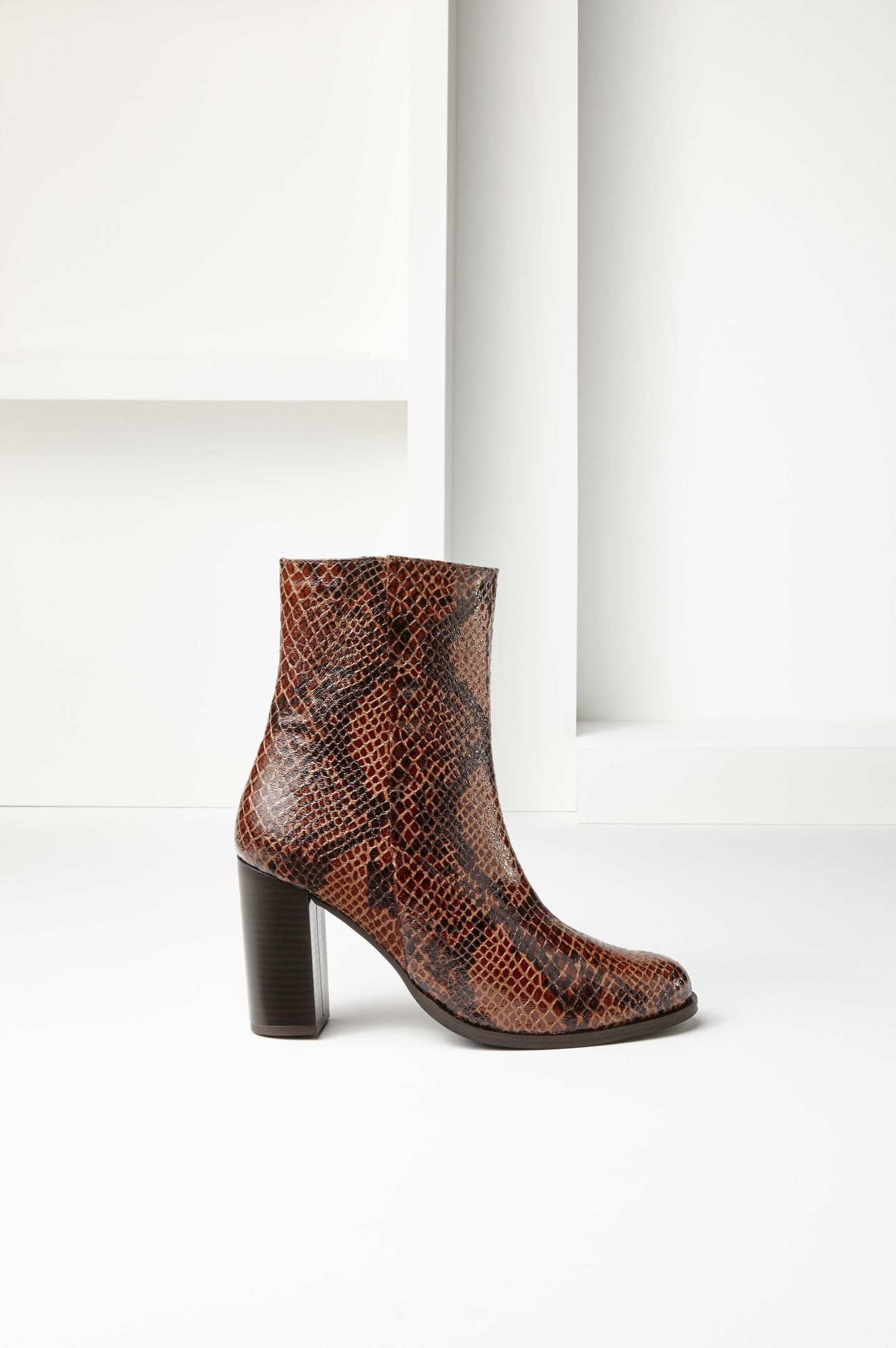 La Redoute Atelier R Python Leather Boots, available from laredoute.co.uk.