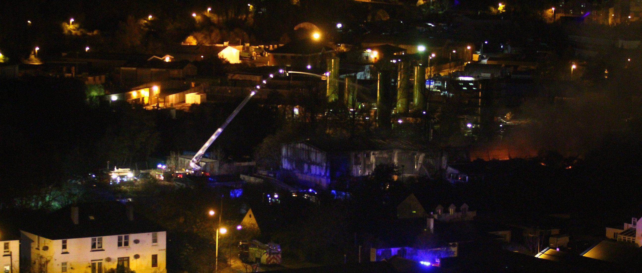 Fire services at the blaze in Oban