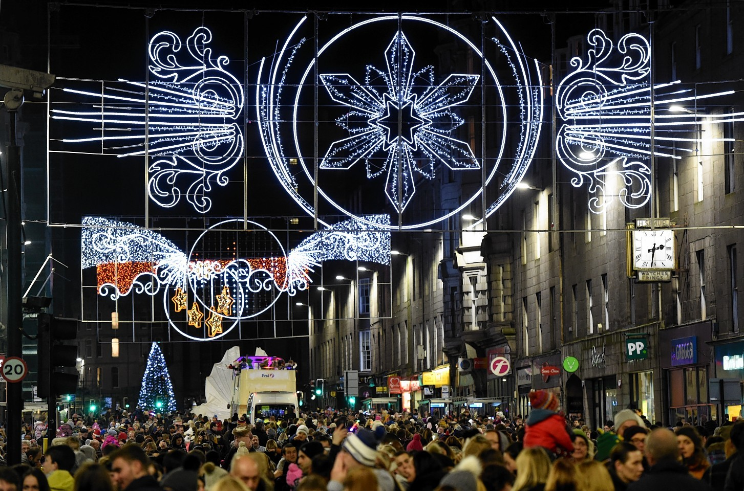 Aberdeen Christmas lights switch on parade down Union Street.