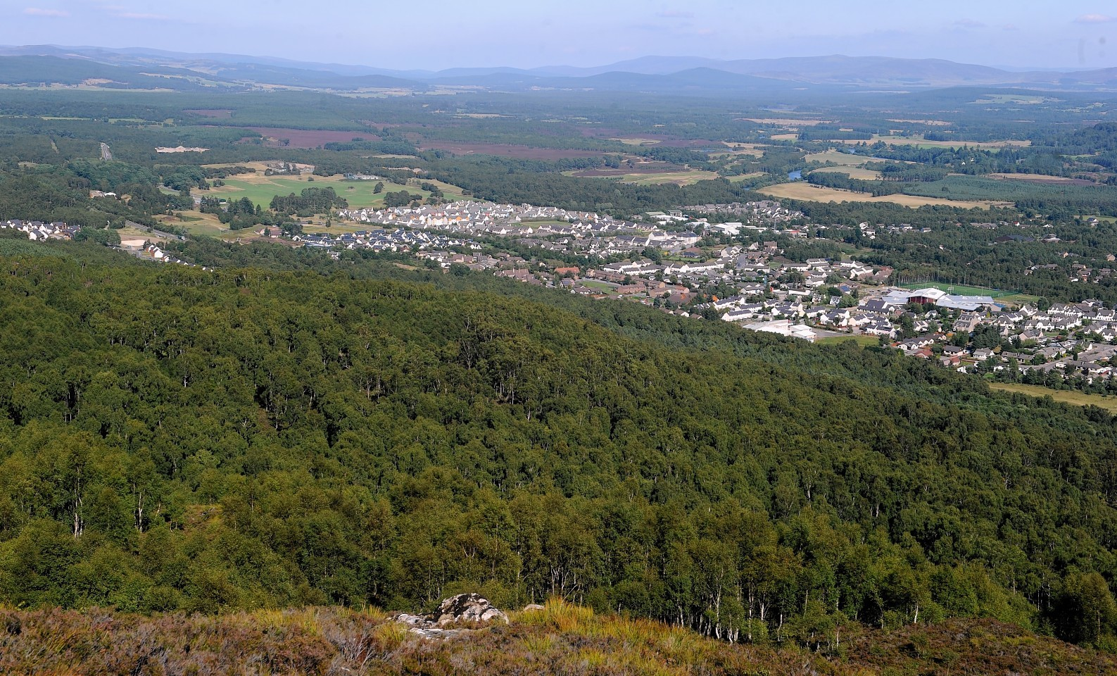 Aerial view of Aviemore