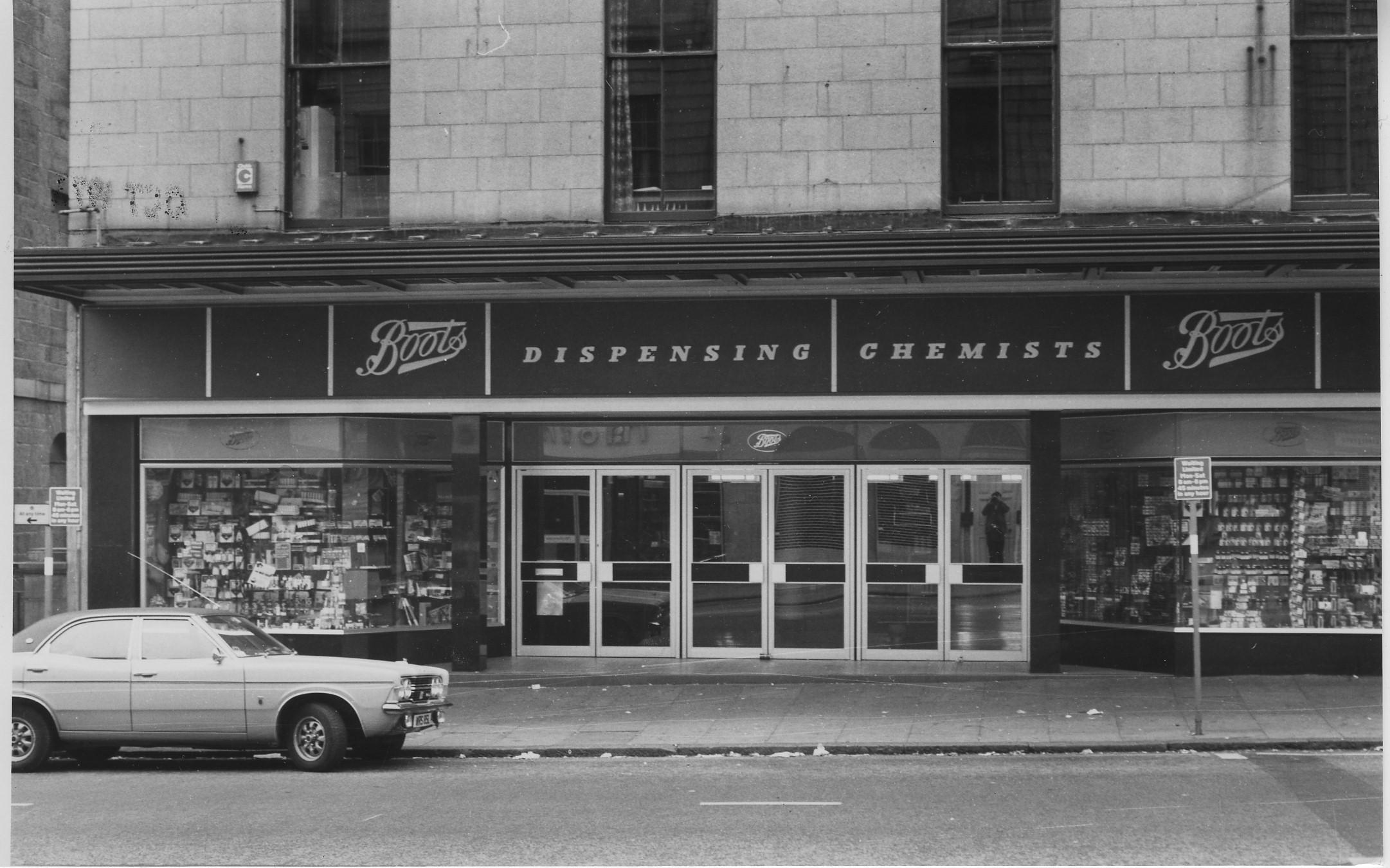 Boots, Union Street, 1973