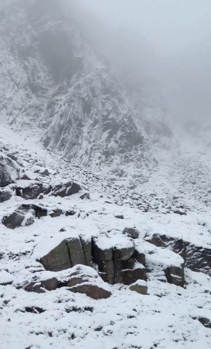 The Braemar Mountain Rescue Team on Lochnagar yesterday. Credit: Braemar MRT.