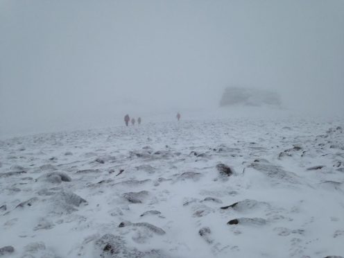 Braemar Mountain Rescue Team atop Beinn Mheadhoin (file pic)