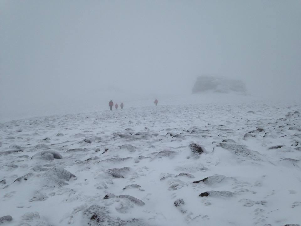 Braemar Mountain Rescue Team atop Beinn Mheadhoin (file pic)