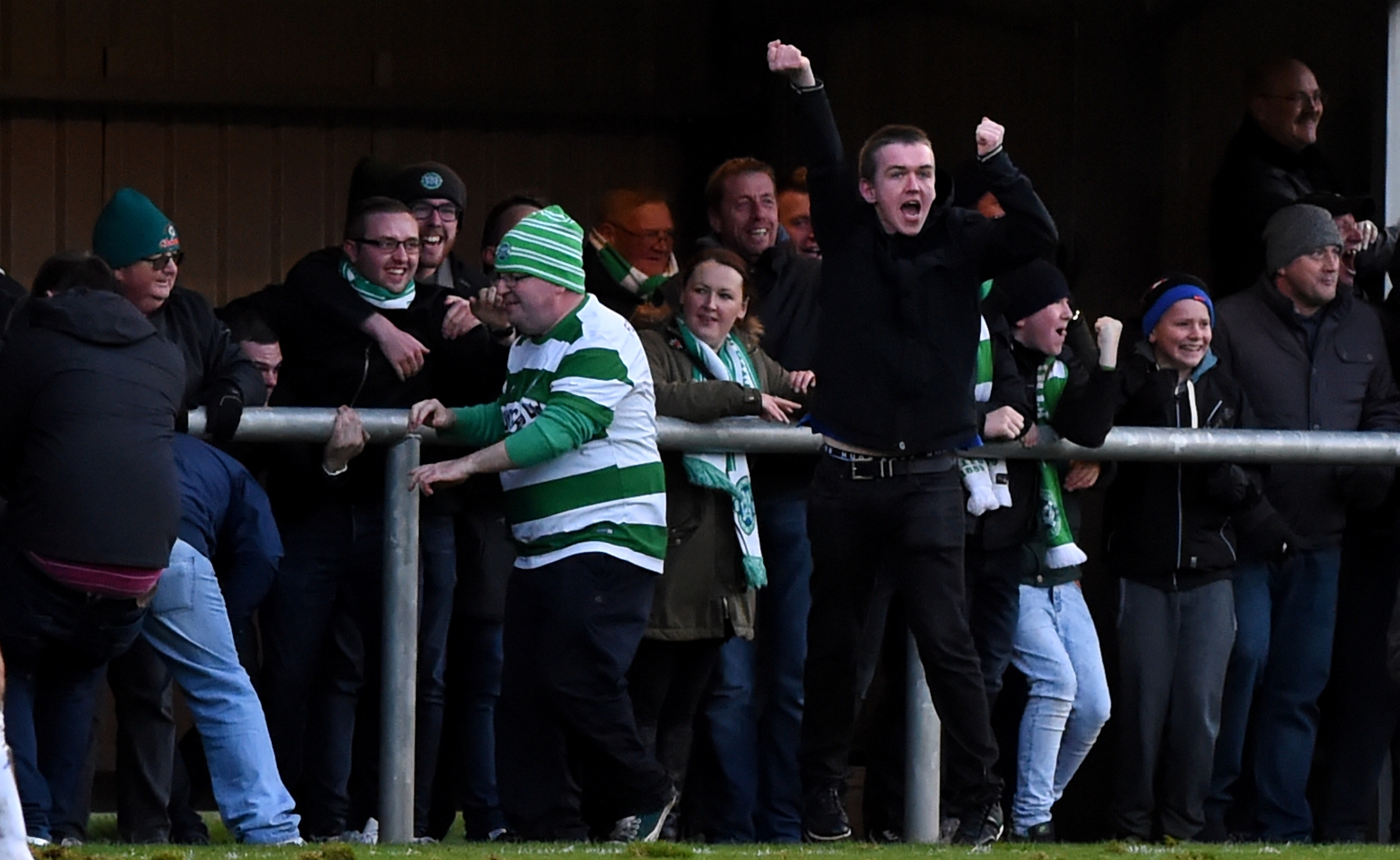 Buckie Thistle fans (file pic)