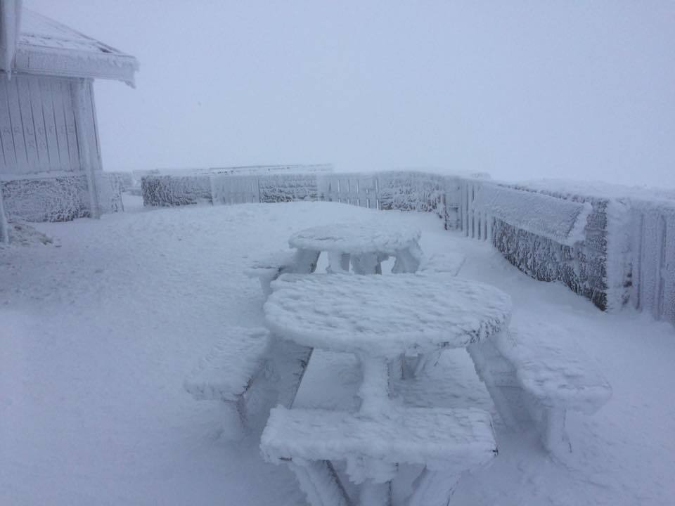 CairnGorm Mountain Ski Resort's snow. Credit: Highland and Islands Weather Facebook page.
