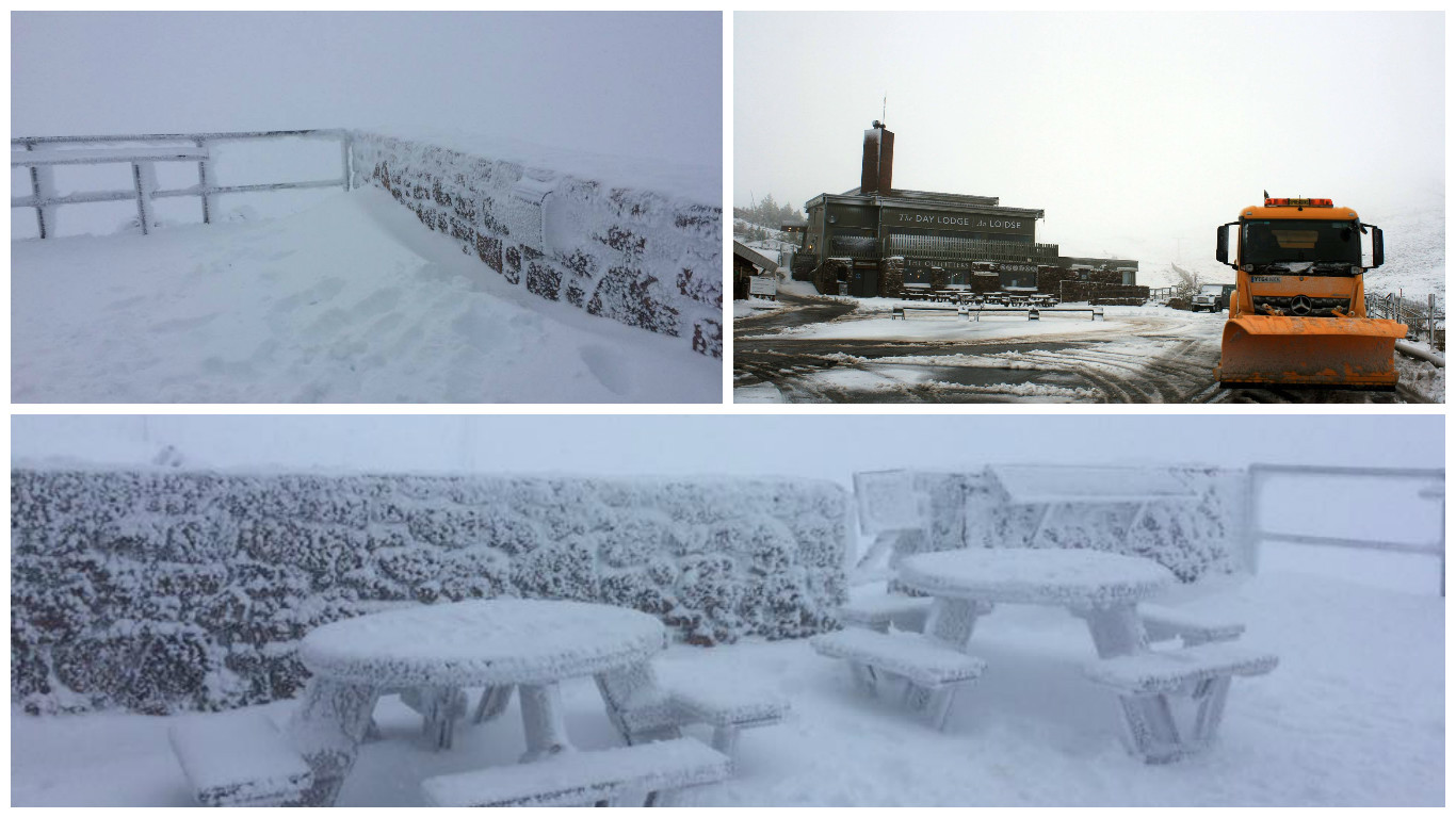 CairnGorm Mountain today. Credit: Highland and Islands Weather Facebook page/CairnGorm Mountain.