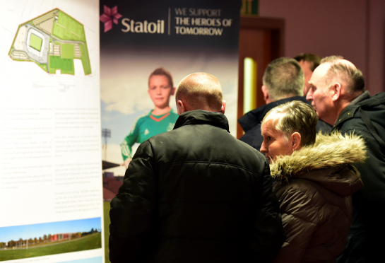 Public consultation on the Dons proposed new stadium at Kingsford, held at the Aberdeen FC, Richard Donald Stand, Pittodrie Stadium.      Picture by Kami Thomson