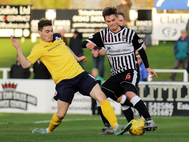 Elgin City midfielder Thomas Reilly.