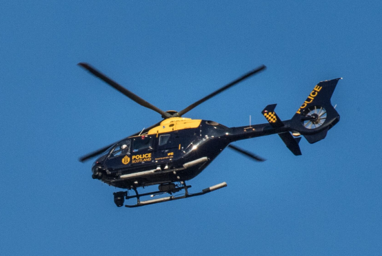 Police Scotland's air support helicopter
