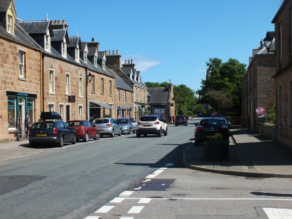 Castle Street is Dornoch's main street.