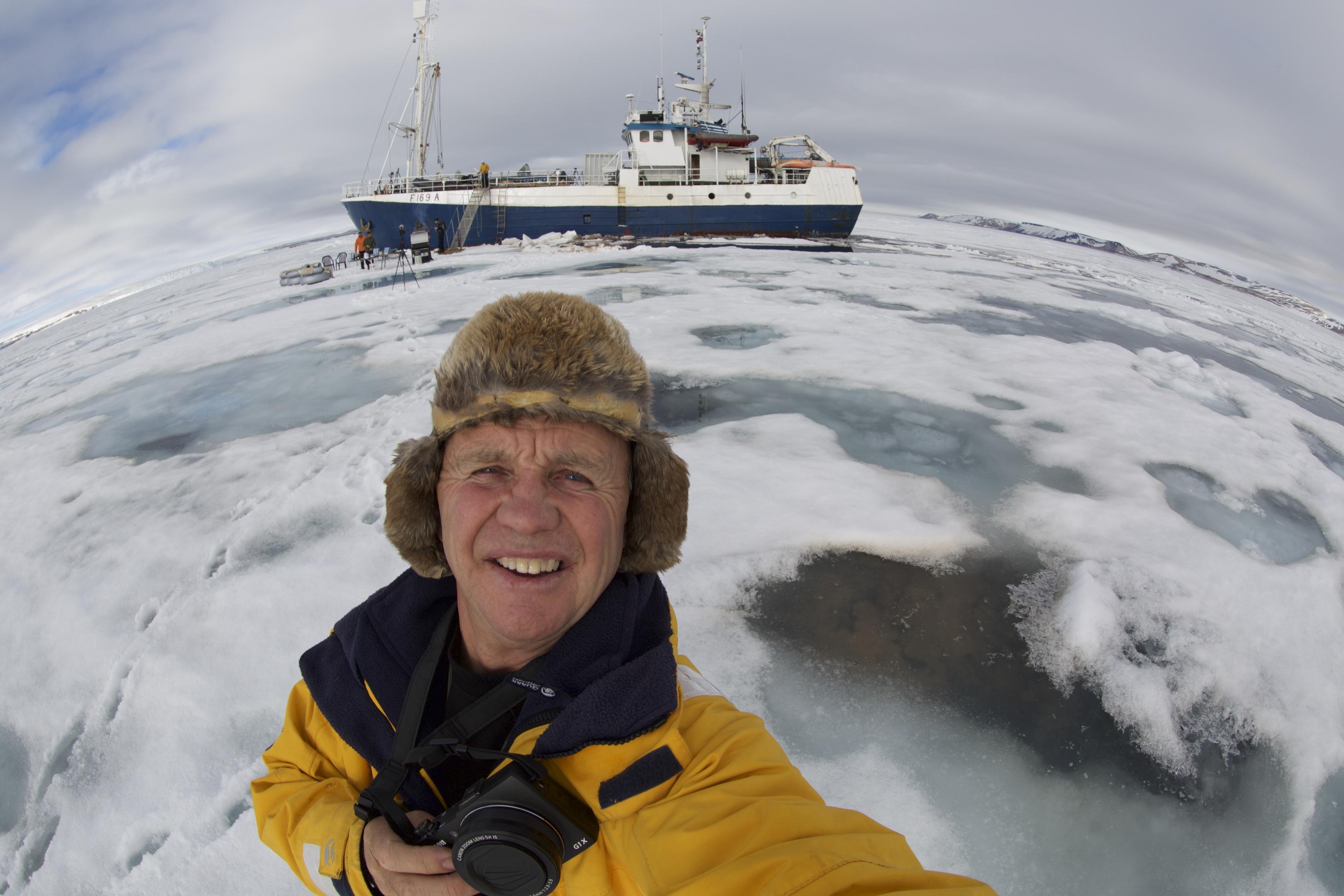 Doug in the ice off  Svalbard