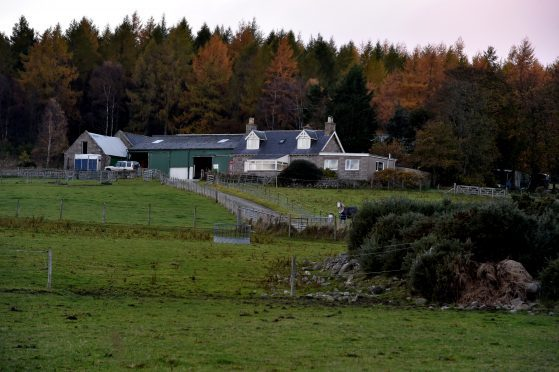 Dykehead Farm  at Aboyne where a woman was  thrown from her horse. Picture by COLIN RENNIE