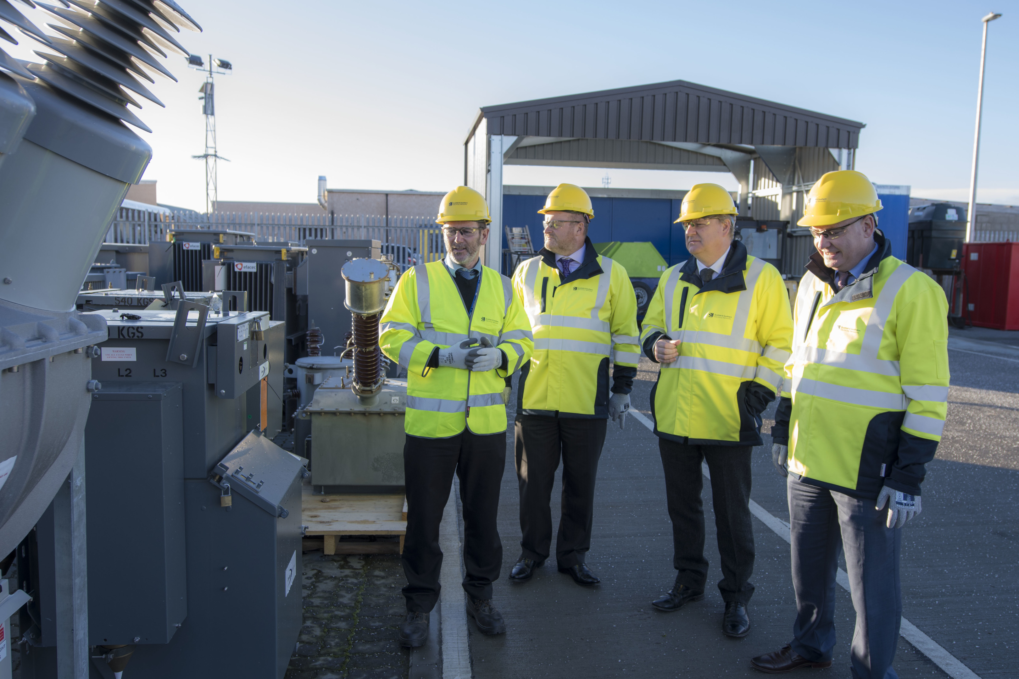 Moray's MP Angus Robertson and MSP Richard Lochhead were given a tour of the depot as part of the opening ceremony.