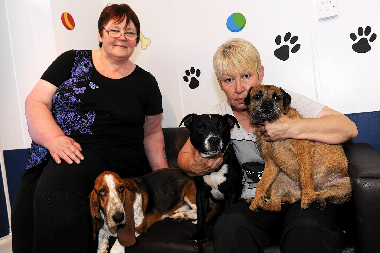 Esther Riddell, left, and Meg Grant, right, feared they would no longer be able to care for dogs.