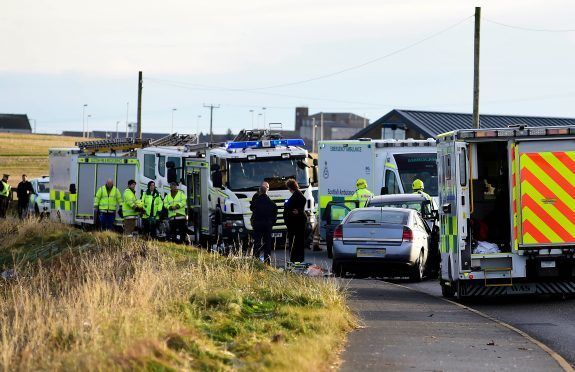 Scene of the Fraserburgh crash