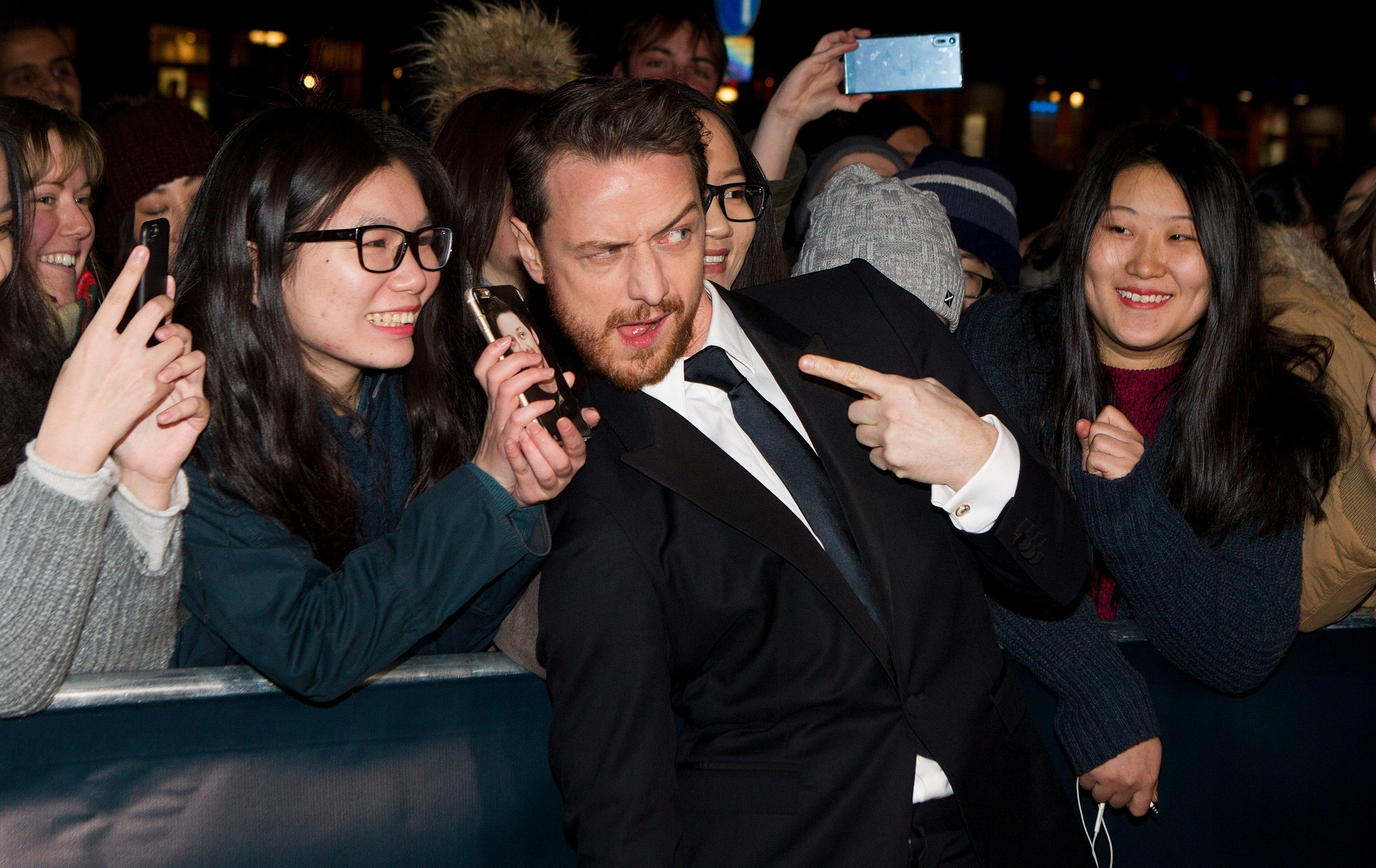 Actor James Mcavoy on the red carpet at the BAFTA Scotland Awards held at the Radisson Blu, Glasgow.