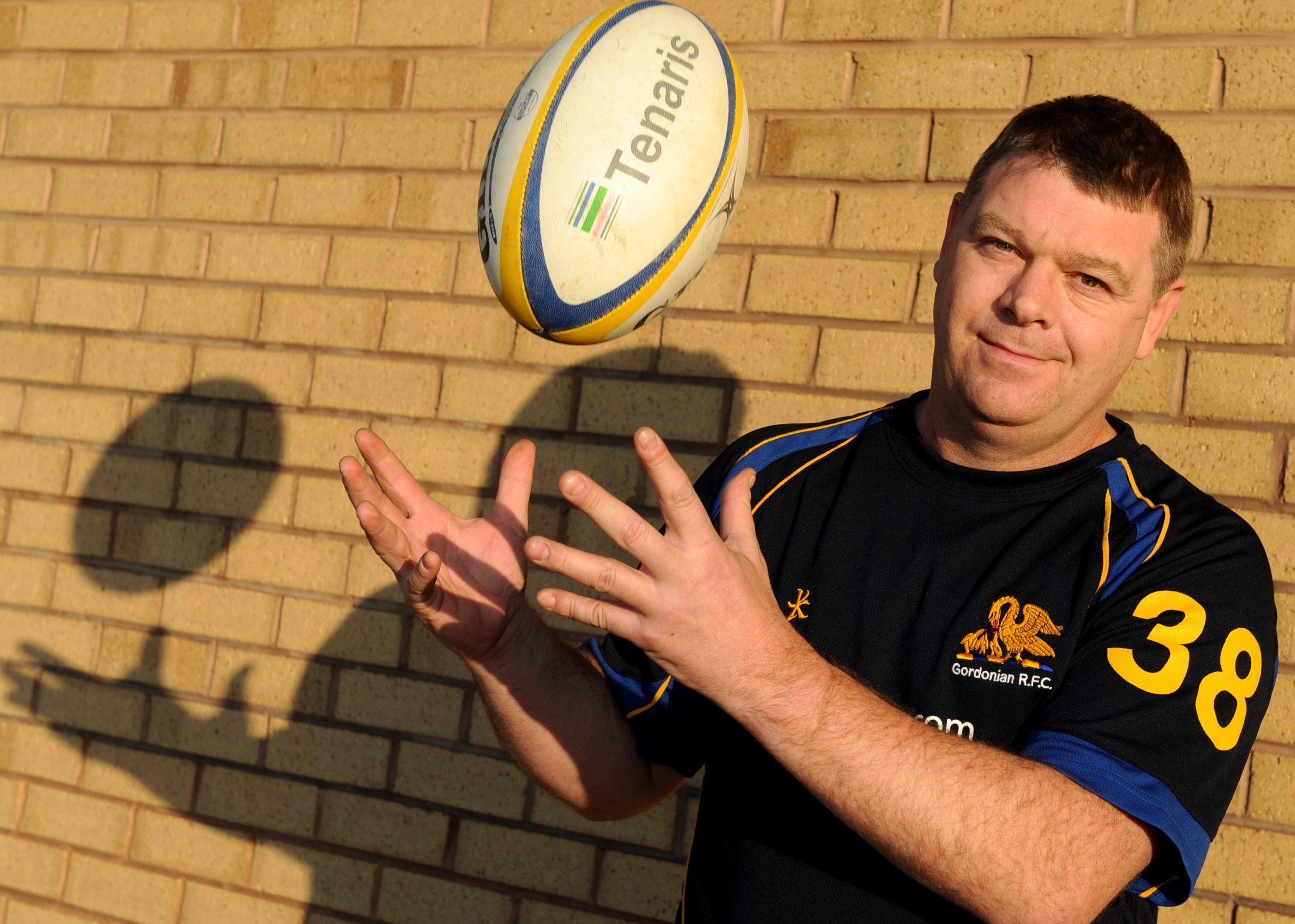 Gordonians Rugby Coach Jim Sugden.