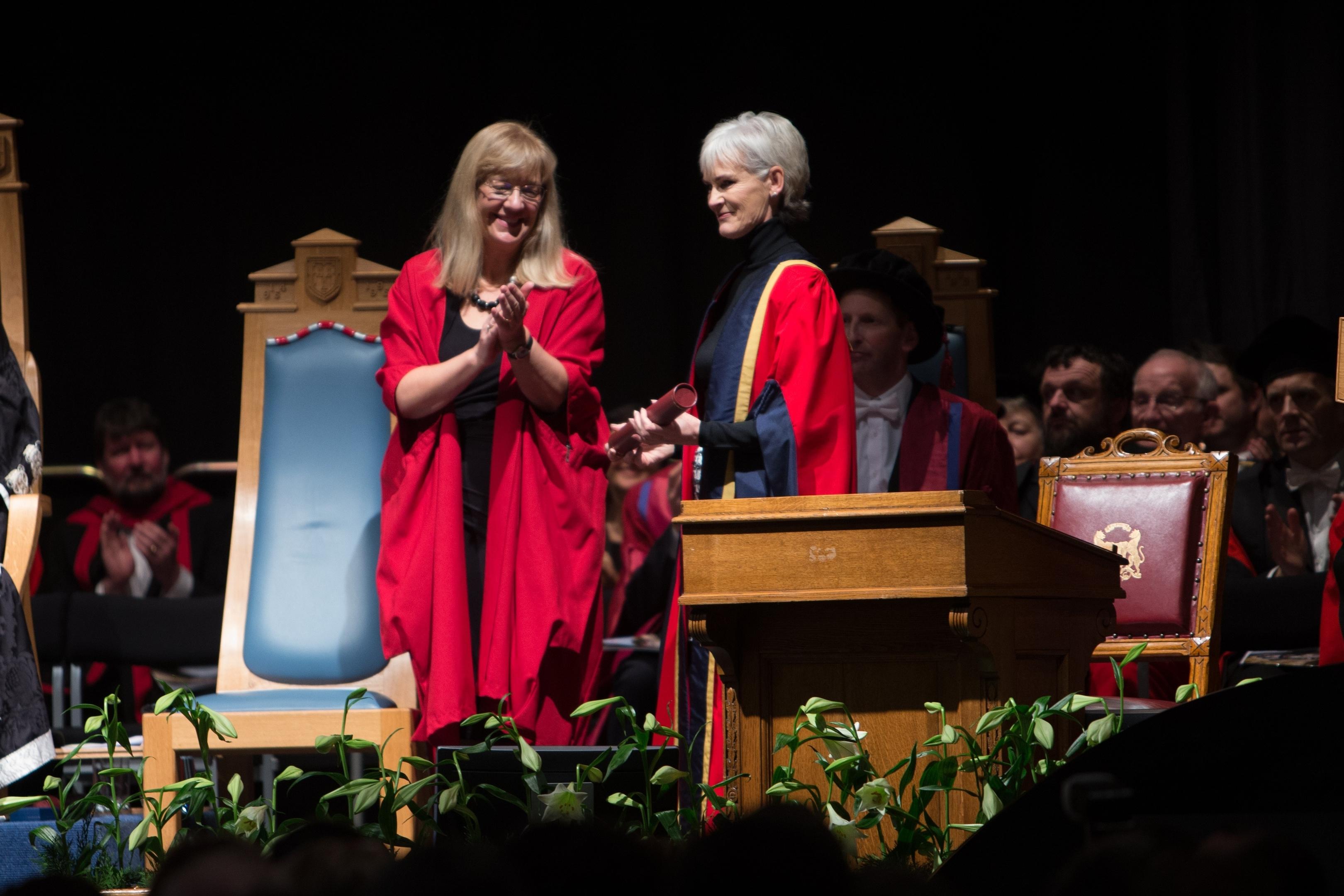 Judy Murray at the Aberdeen University graduations
