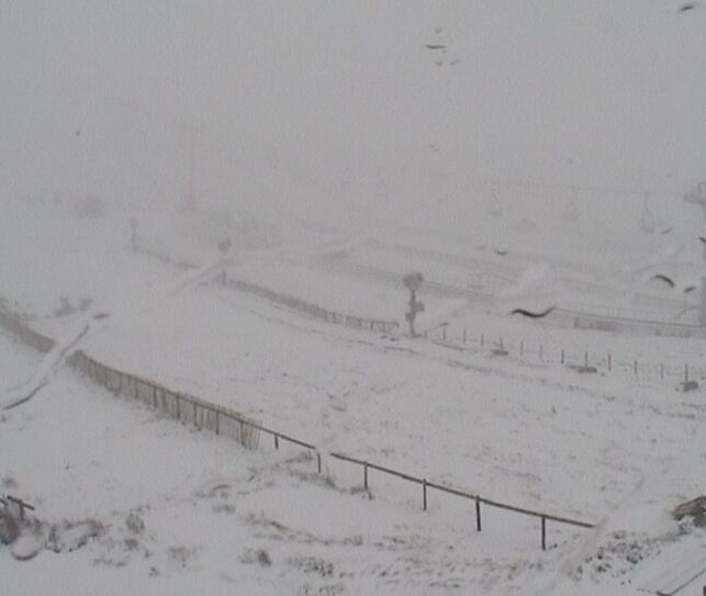 The Lecht Ski Centre at 7.50am this morning. Credit: Lecht Ski Centre.