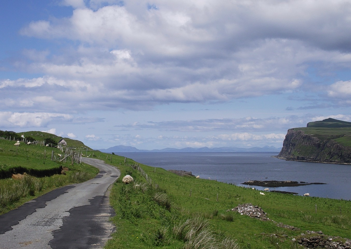 Loch Pooltiel, Skye, where a controversial fishfarm has been approved by the Scottish Government.