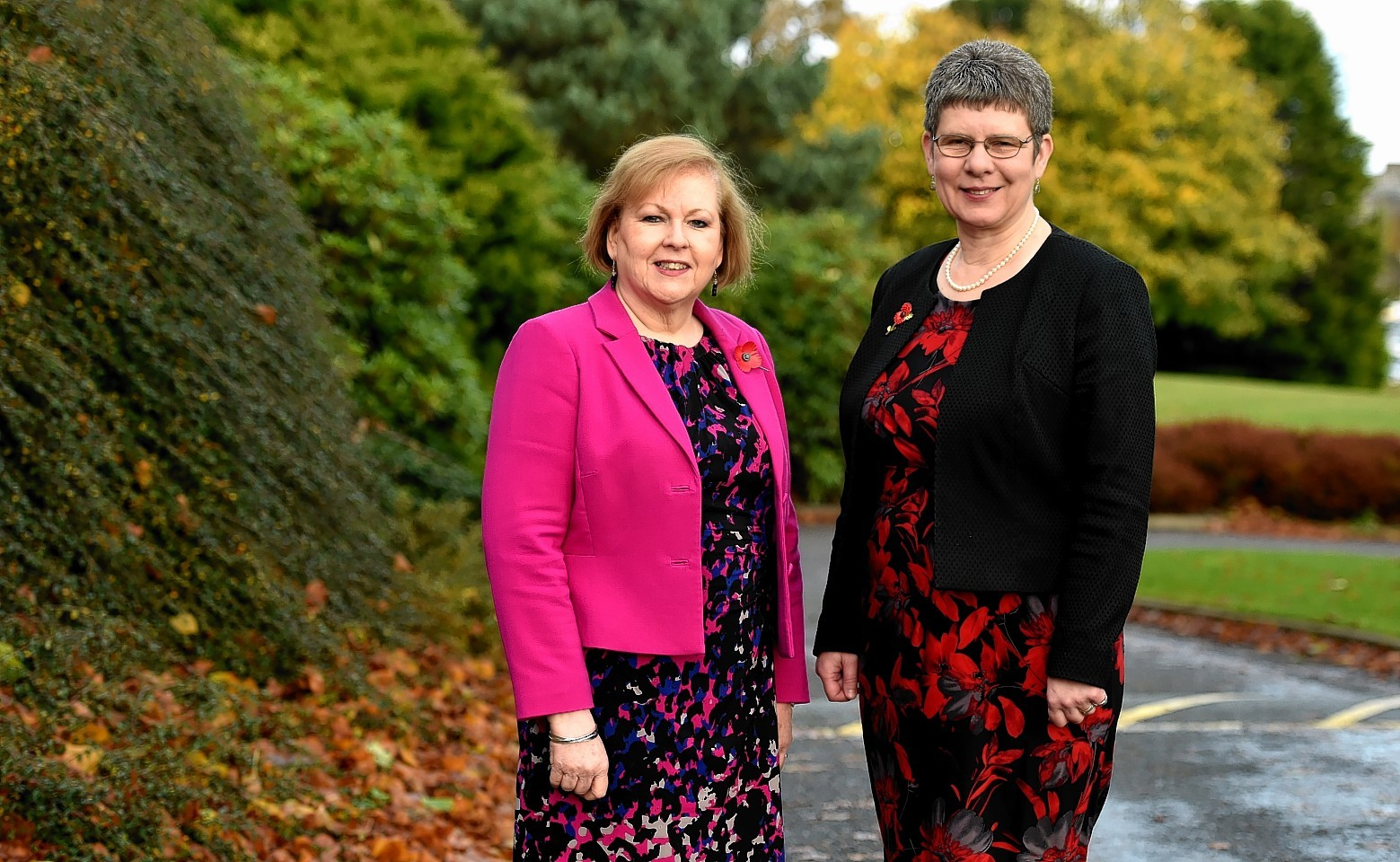 Education chief Maria Walker and council co-leader Alison Evison