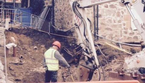 One of the pictures of works by Provost Skene's House posted by opponents of the Marischal Square development