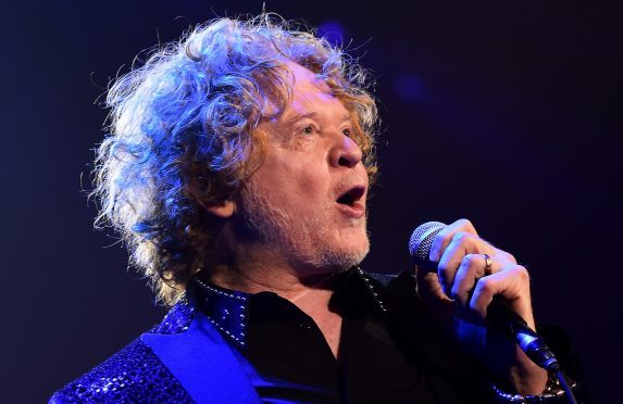 Singer Mick Hucknall on stage.      Picture by Kami Thomson