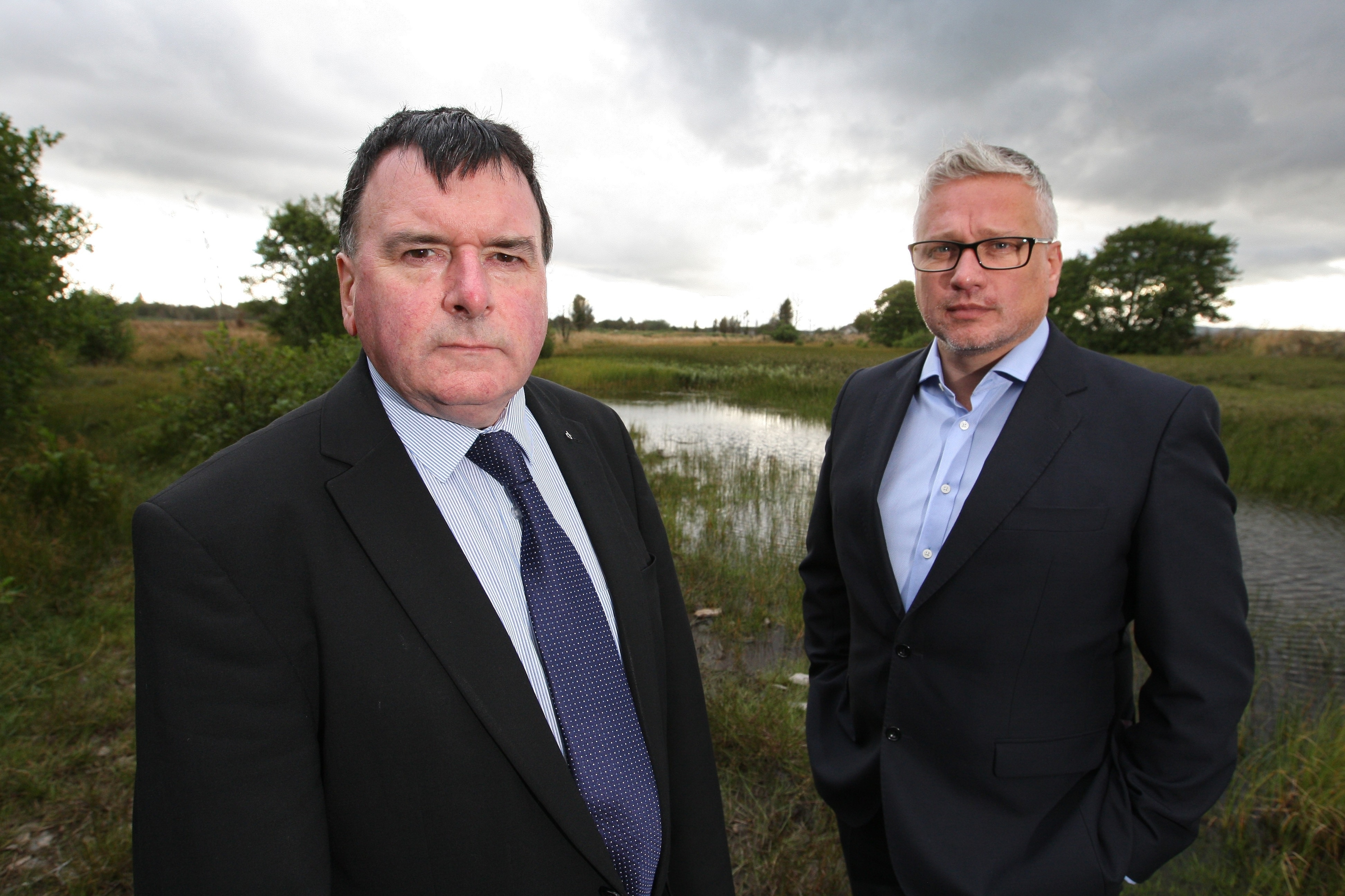 George Moodie (right), pictured with local councillor Ken Gowans at the site.