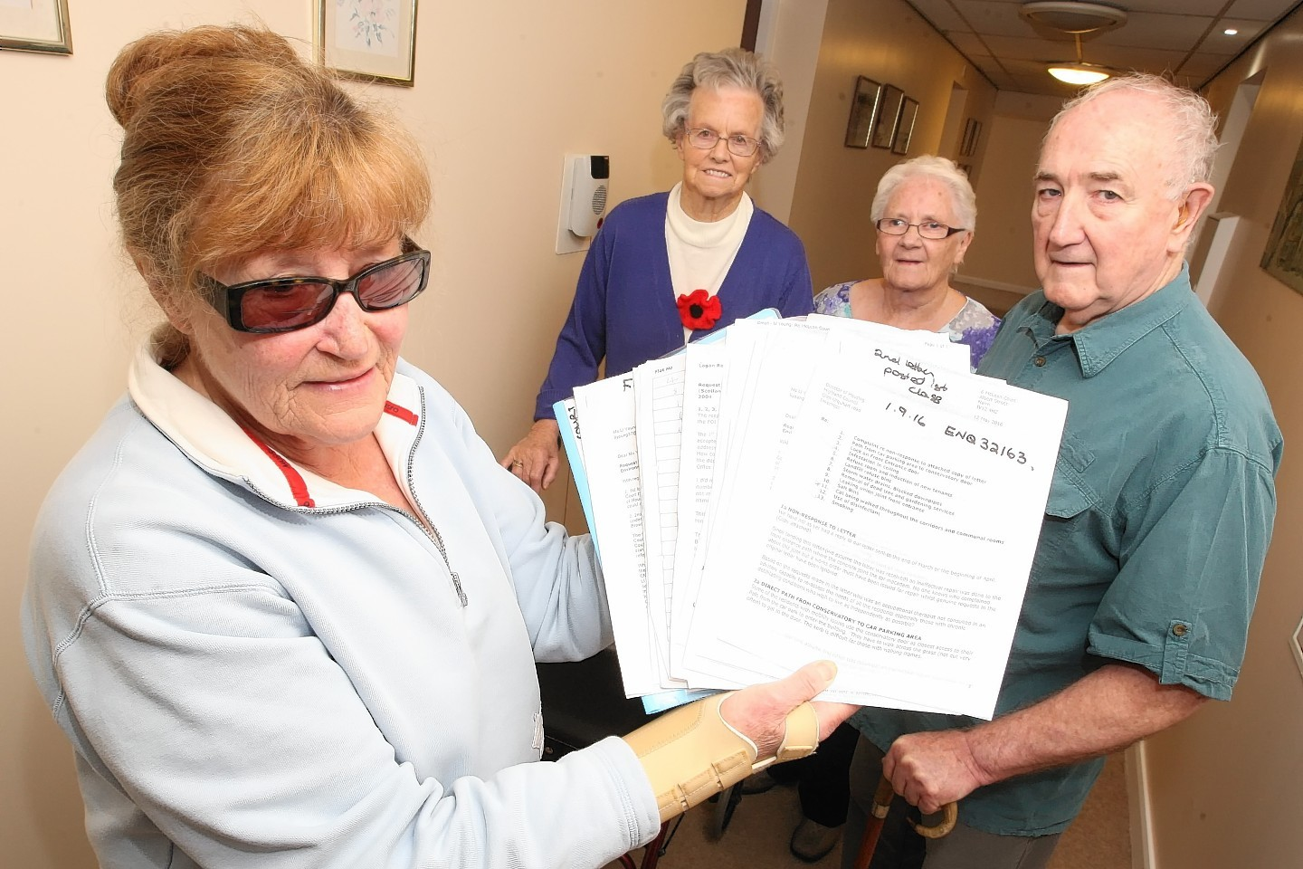 McLean Court residents have asked for more hand rails after a spate of nasty accidents.