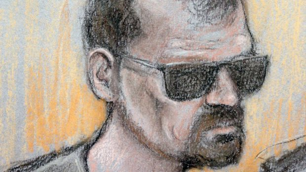 Court artist sketch of Stefano Brizzi, who admits trying to dispose of Pc Gordon Semple's body in an acid bath after being inspired by American TV series Breaking Bad (Elizabeth Cook/PA)