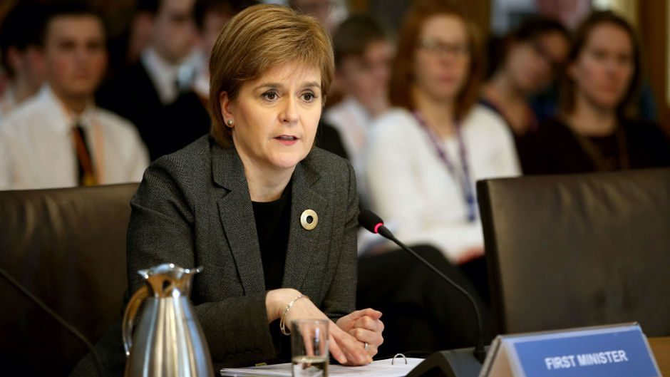 First Minister Nicola Sturgeon appears before the Scottish Parliament's conveners' group