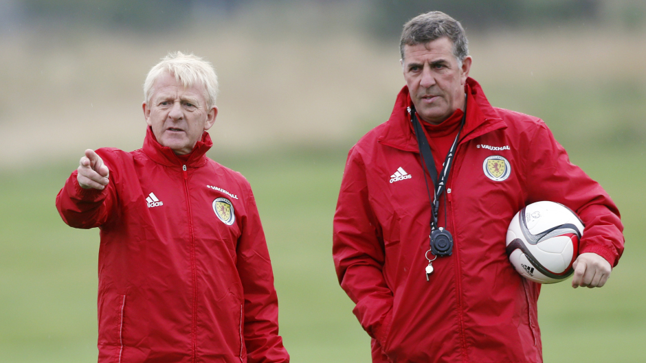 Mark McGhee, right, and Gordon Strachan look set to continue in their Scotland roles
