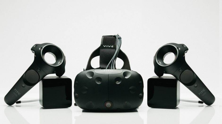 HTC undated handout photo of its Vive virtual reality headset