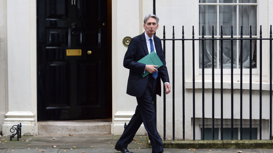 Chancellor Philip Hammond leaves 11 Downing Street, London, for the House of Commons