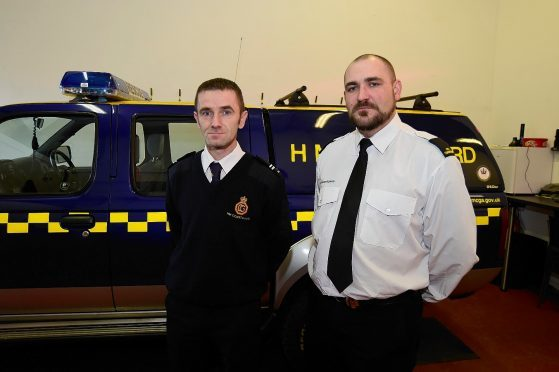 Fraserburgh Coastguard officers Darren Scott and Martin Stephen.