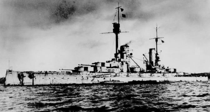 A picture of the SMS Markgraf.