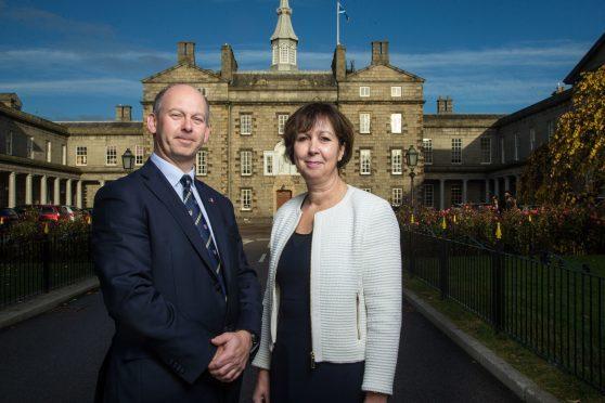 Simon Mills, Head of College, with Andrea Angus, Head of the Senior School