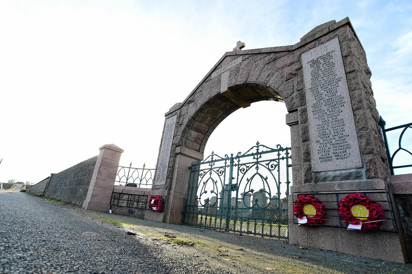 Cruden Bay's war memorial.