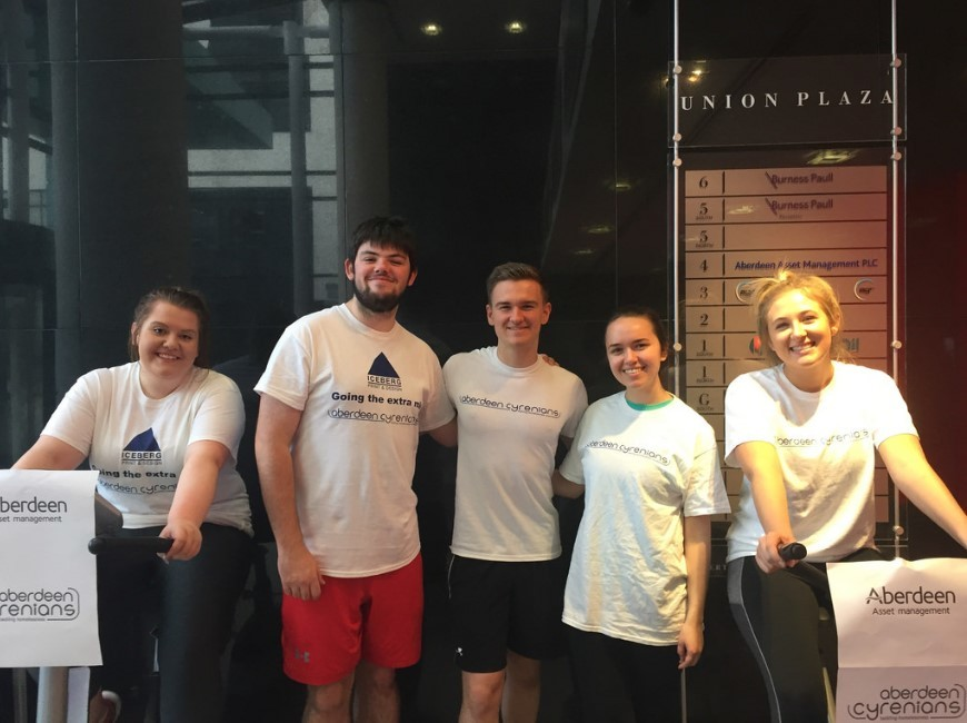 Aberdeen Asset Apprentices at the Sleepout