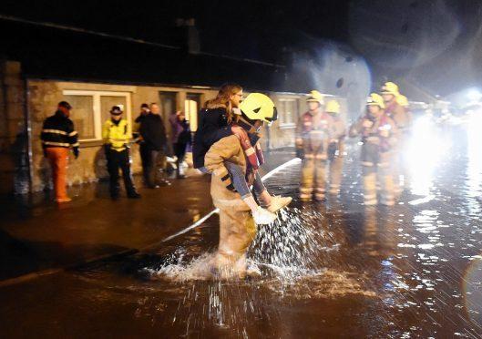 Storm Frank began battering the north-east on December 30, devastating 600 homes and 100 businesses across Aberdeenshire.