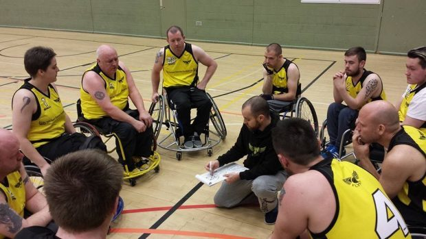 Wheelchair basketball sessions are open to both disabled and able bodied athletes